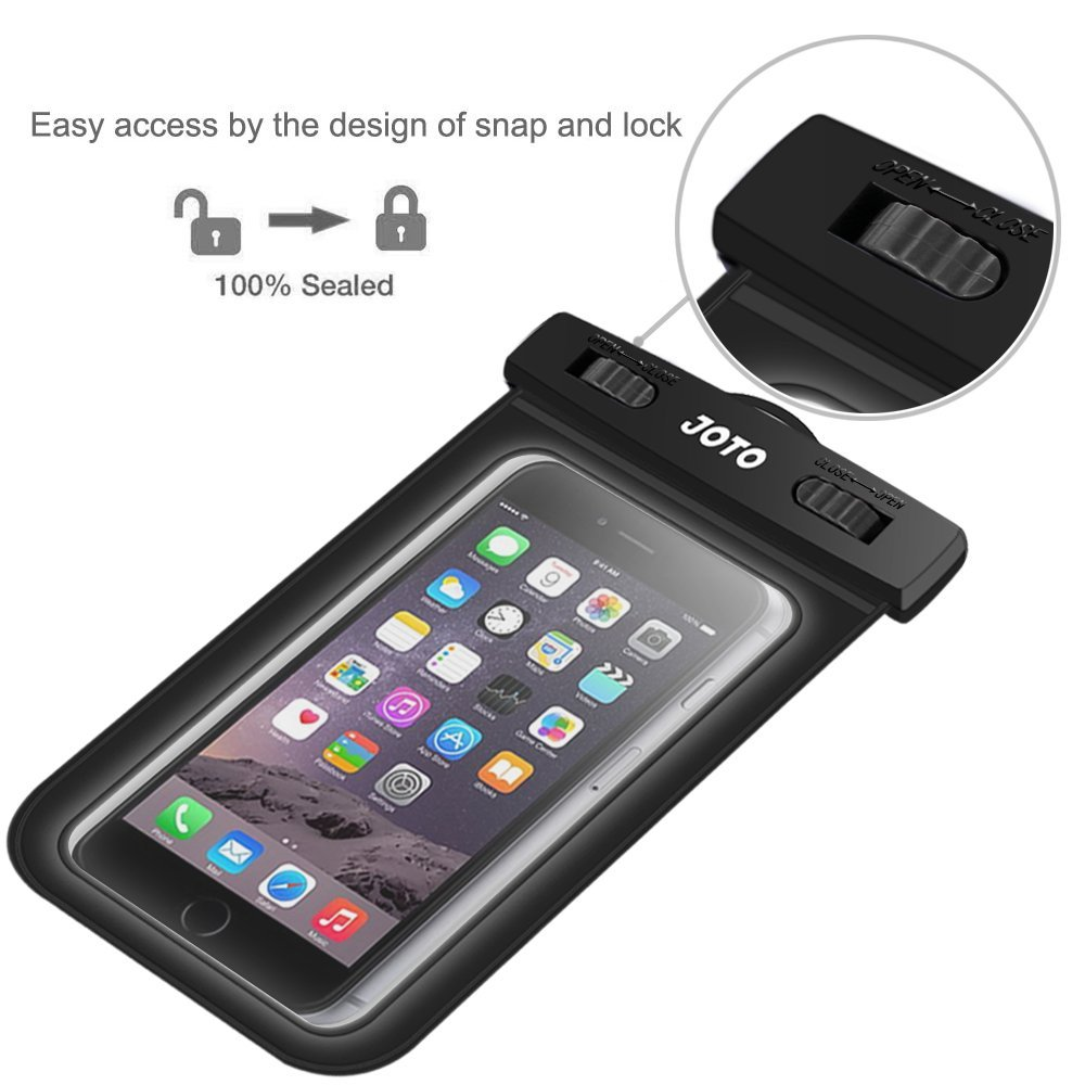 best sneakers 3b273 c9789 Universal Waterproof Case, JOTO Cellphone Dry Bag Pouch for iPhone